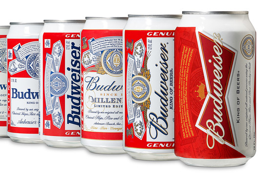 New Budweiser design and several can redesigns
